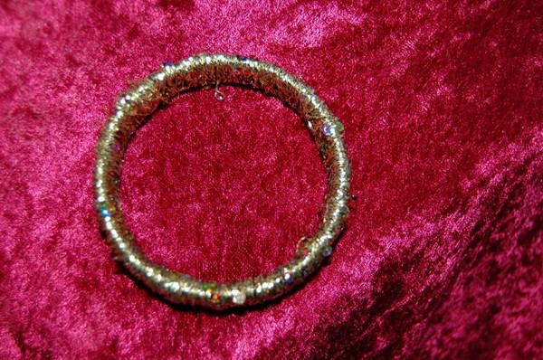 gold thread wrapped bangle
