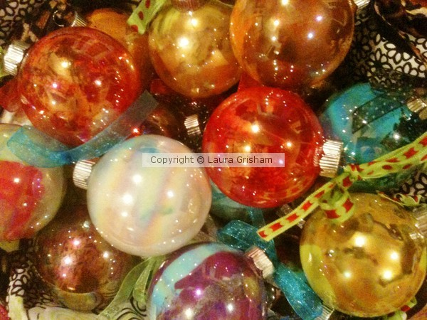 More Marbled Ornaments