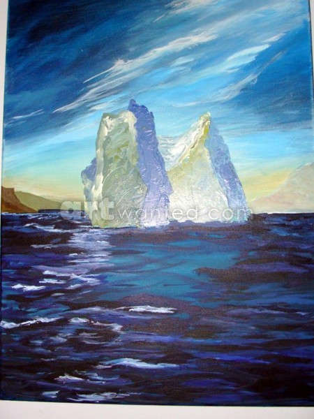 Twin Bergs  18 x 24-   SOLD