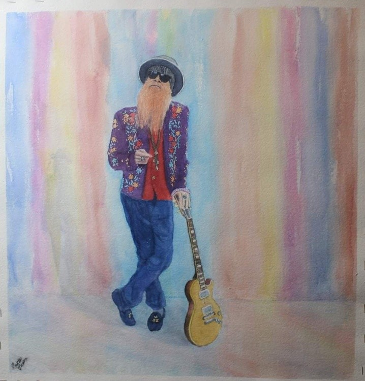 My version. Of Billy Gibbons ZZ Top