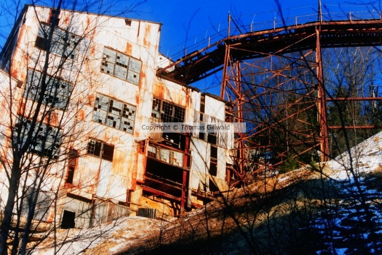 Old mining house and truss
