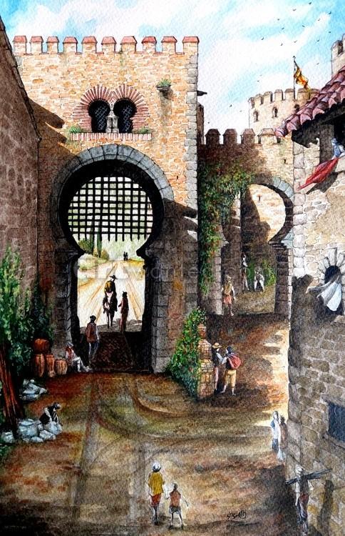 Inside the gate of Puerta de Malaga c16th century