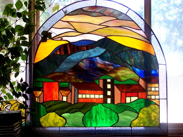 Mount Helena MT, Stained Glass Panel
