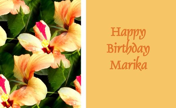 Happy Birthday Marika