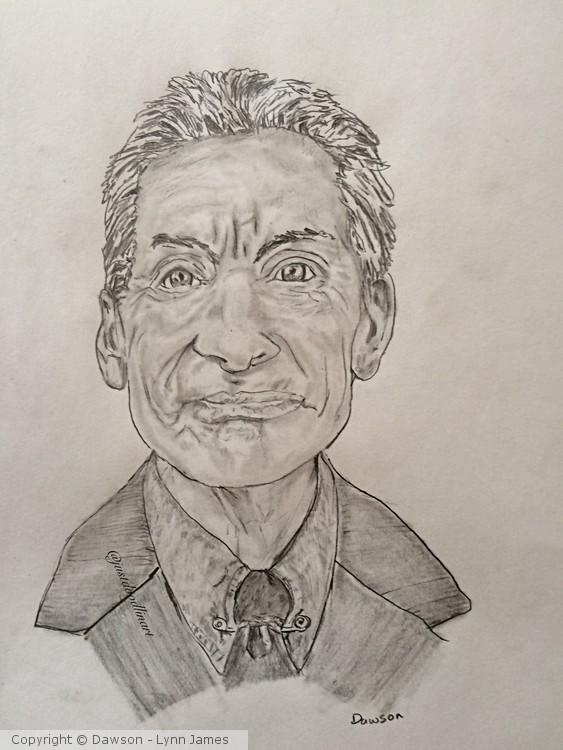 Charlie Watts Caricature