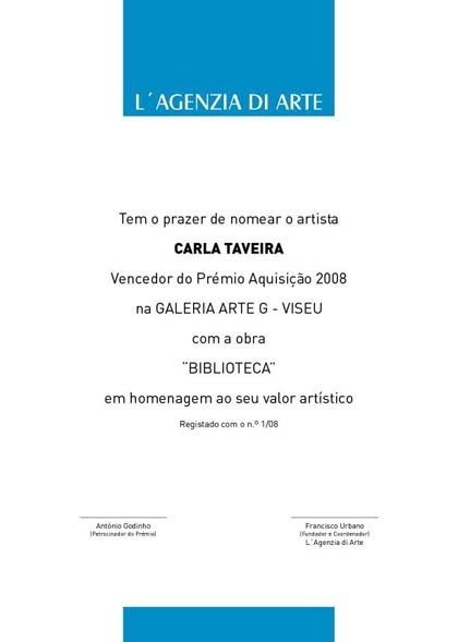 Certificate-Acquisition Prize 'António Godinho'