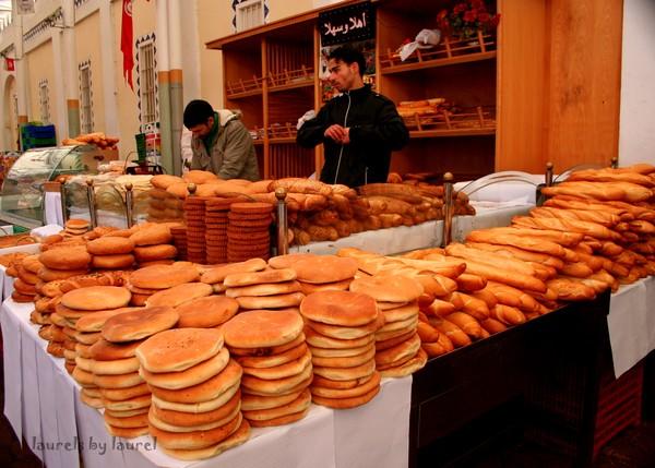 Breads in Market in Tunis