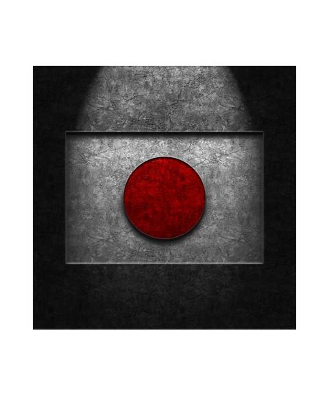 Japanese Flag Stone Texture