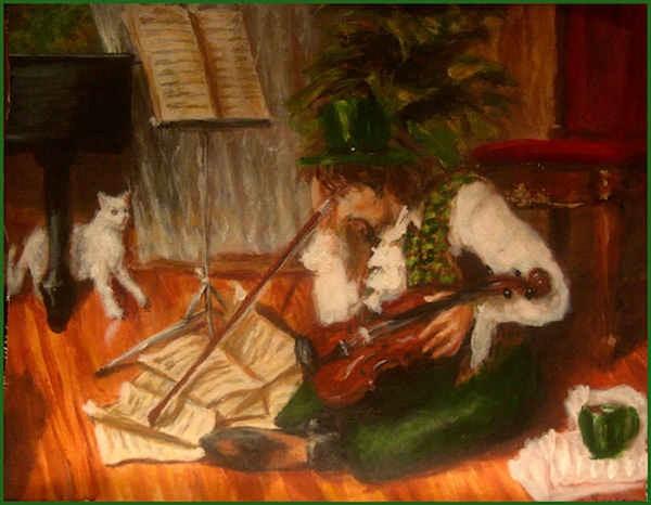 Fiddle & cat