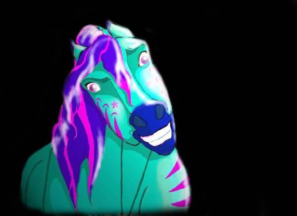 scareyish horse!!