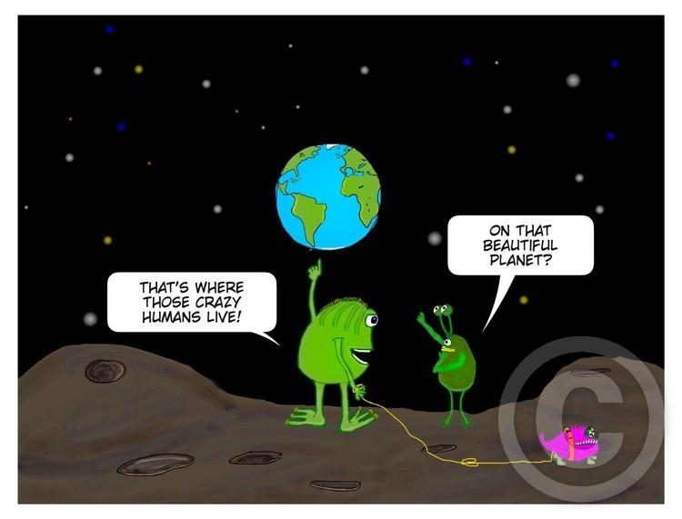 Aliens in conversation