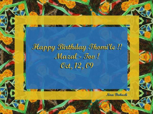 Happy Birthday Thom.. !! :-)