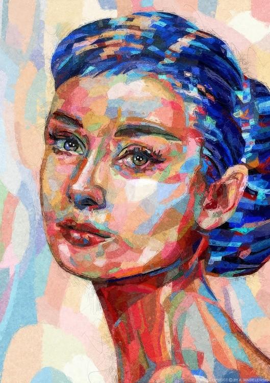 woman portrait audrey hapburn-02-mixedmedia