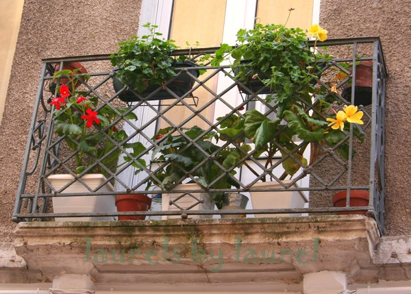 Flowers on a Balcony in Chalon-sur-Saone
