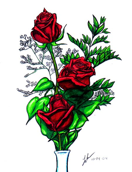 Red Roses in Prisma