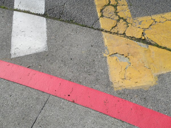 composition with yellow red and white