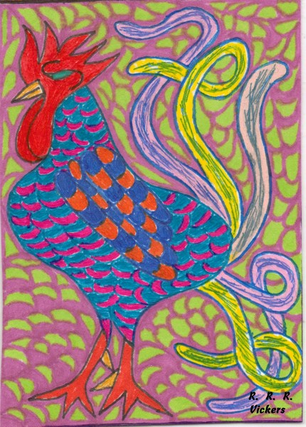 Rooster's Art Card 003 by RRRRV (c) 2011