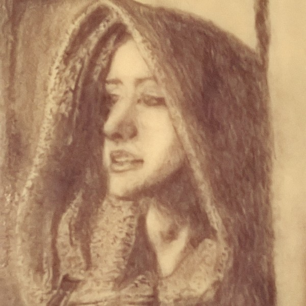 sketch: hooded lady