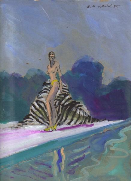 Bikini Babe with Zebra Towel
