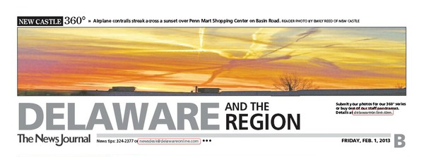 91st News Journal Panorama - Contrails Sunset