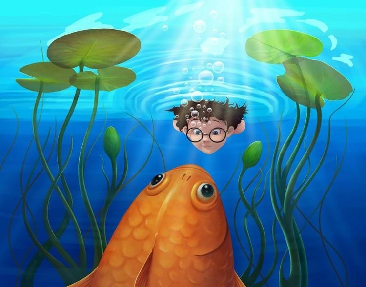 Boy and Goldfish