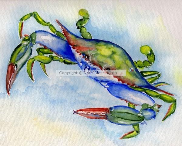 Happy Tybee Blue Crab
