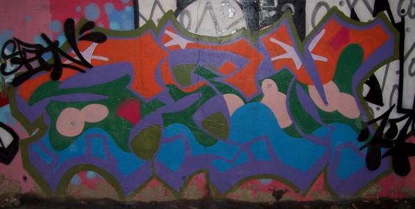 Spin Grafitti Graffiti Tag Piece