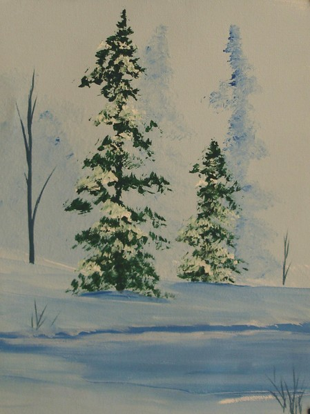 Two Pines Winter