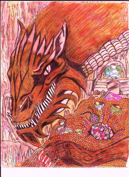 Red Fire Dragon and his Gem of Aurealus