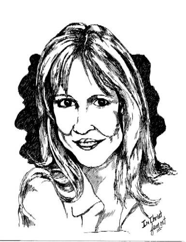 Darlene Zschech- pen & ink