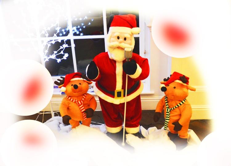 Santa and bears