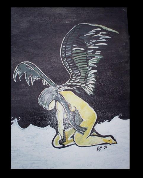 Angel in sorrow