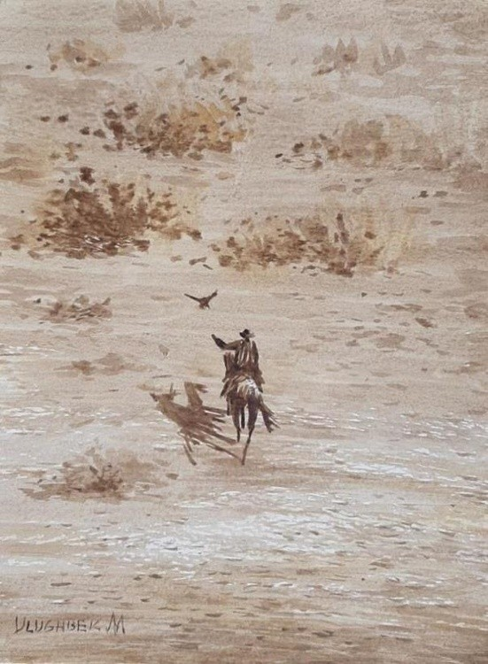 Hunter in the steppe