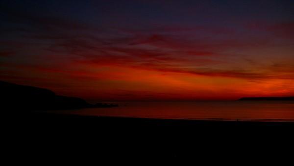Sunset at Bigbury Sept 11th 09