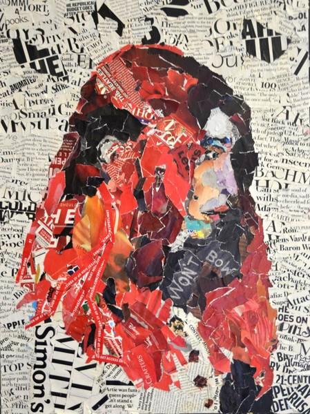 collage self portrait by L.