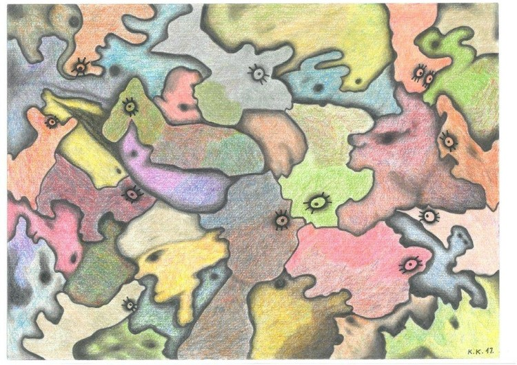 More lives, story from Fantasy world, abstract drawing