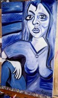 BACK TO BLUE. WAHAT DO U THINK OF THIS PAINTING