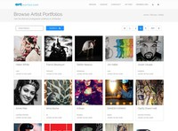 New Page: Browse Artist Portfolios