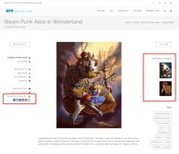 Improved Image Sharing and Additional Artwork Images
