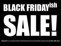 BLACK FRIDAYish SALE!