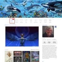 Artist Profile Now the Default Portfolio Page