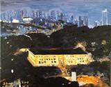 Admin Bldg Balboa CZ & Panama City Panama Night