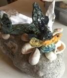 Dog fish on a pebble