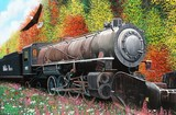 Skagway Locomotive in Autumn