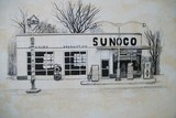 Sunoco Gas  Station 1960,s