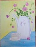 Tea Set with Geraniums
