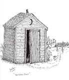 Two Hole Outhouse Ghost