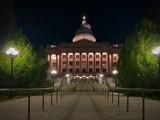 Utah State Capitol at night 1