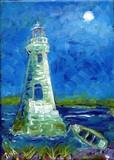 Cockspur Lighthouse Night Moon mini #9