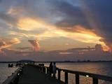 Town Pier of Melbourne Beach,Florida Sunrise